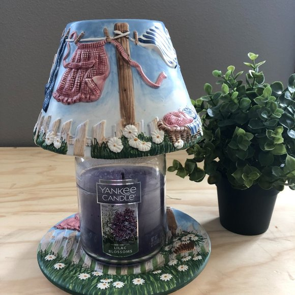 Yankee Candle Shade Topper and Plate